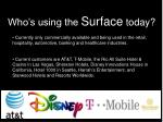 who s using the surface today