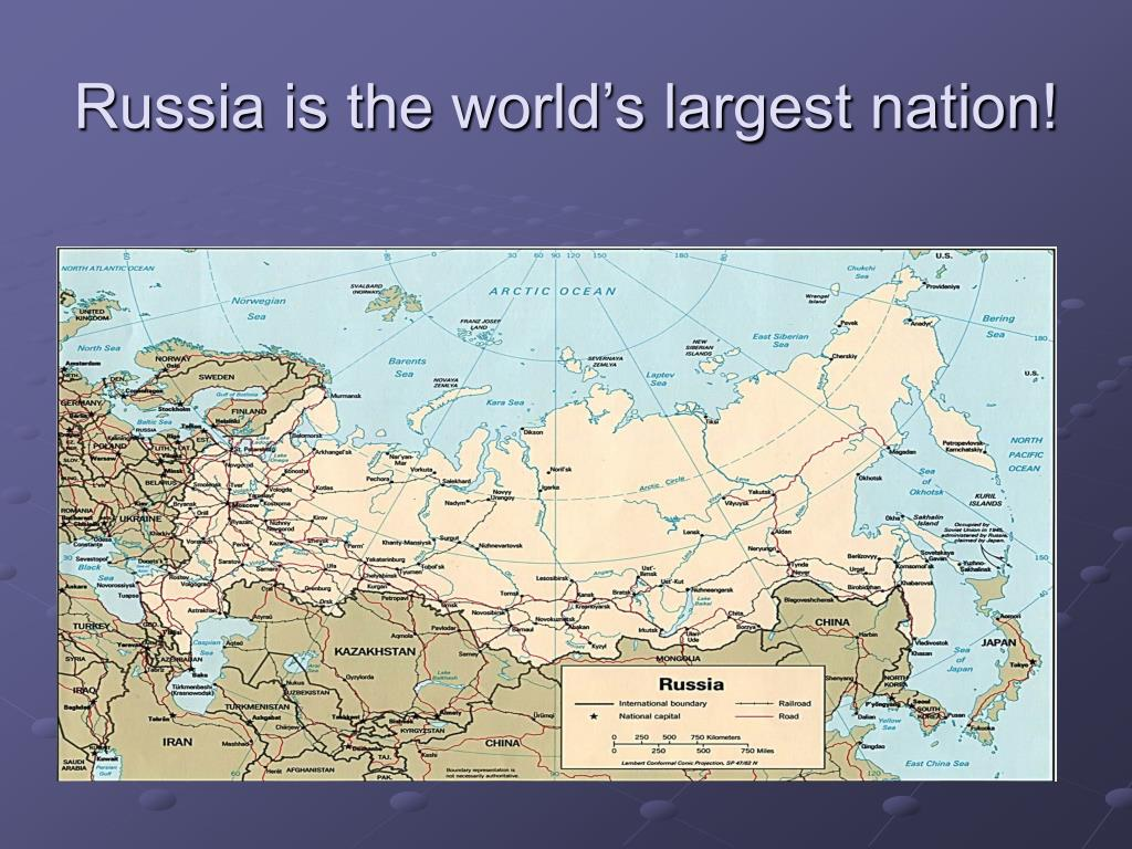 Russia is the world's largest nation!