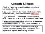 allosteric effectors