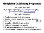 myoglobin o 2 binding properties7