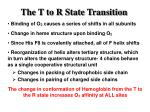 the t to r state transition