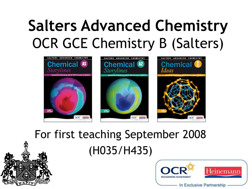 salters advanced chemistry ocr gce chemistry b salters l.