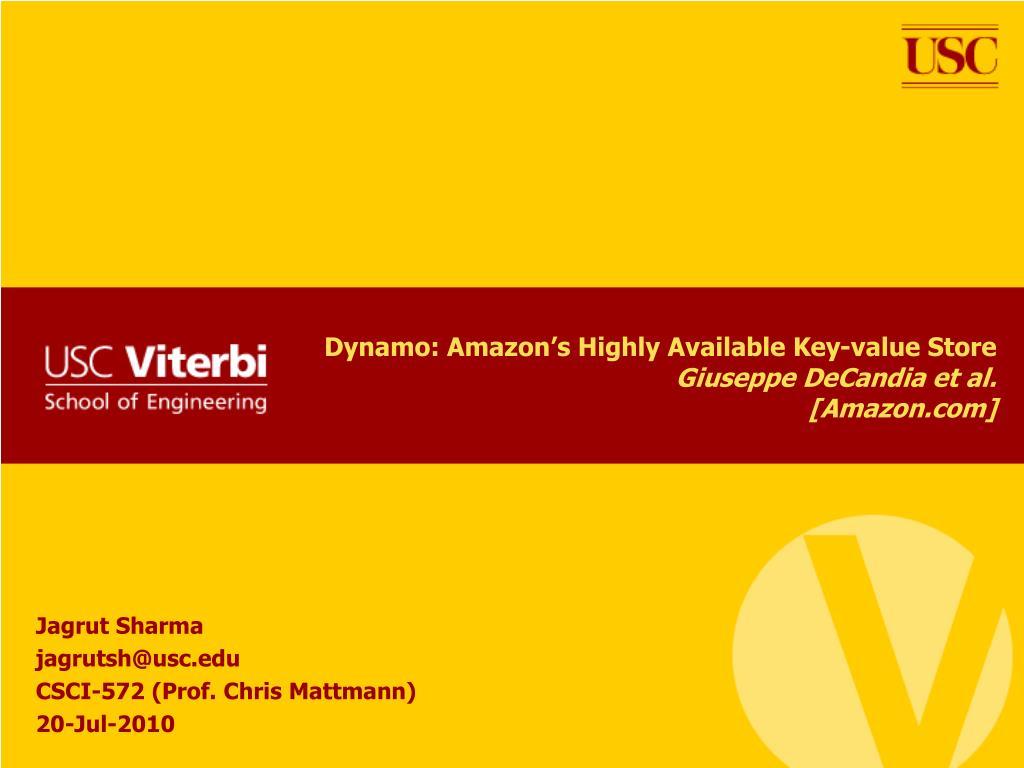 dynamo amazon s highly available key value store giuseppe decandia et al amazon com l.