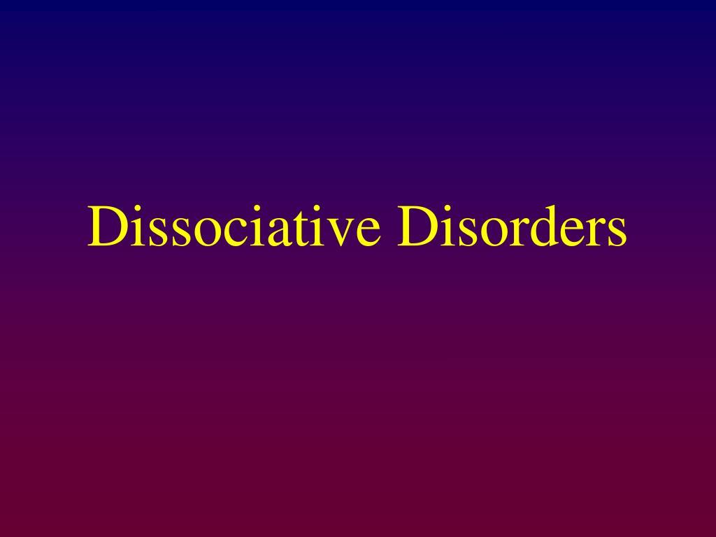 dissociative disorders l.