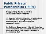 public private partnerships ppps