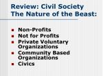 review civil society the nature of the beast