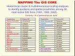 mapping the gis core