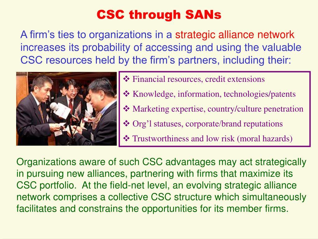 CSC through SANs