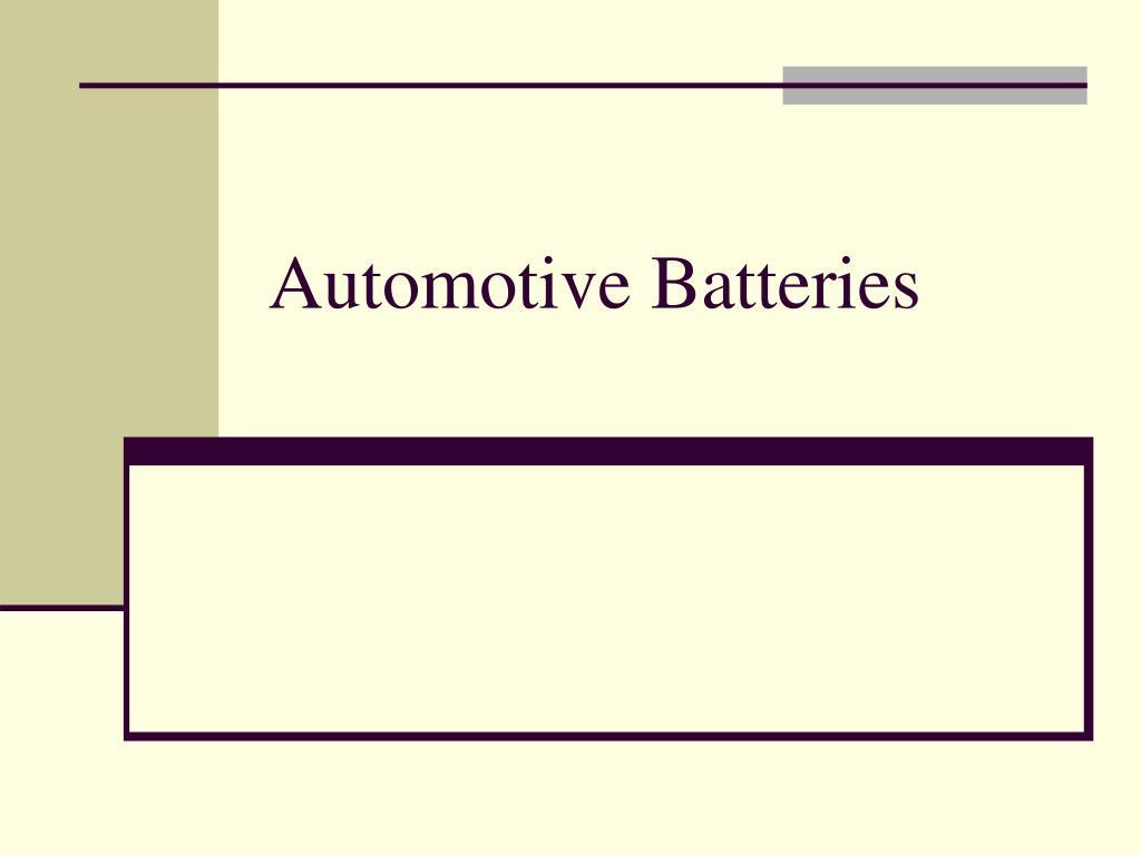 automotive batteries l.