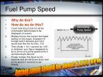 fuel pump speed