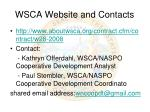 wsca website and contacts