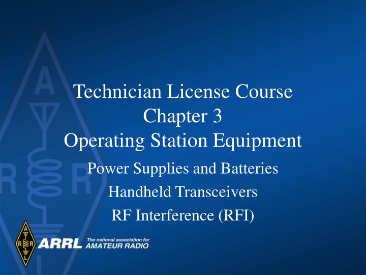 technician license course chapter 3 operating station equipment n.