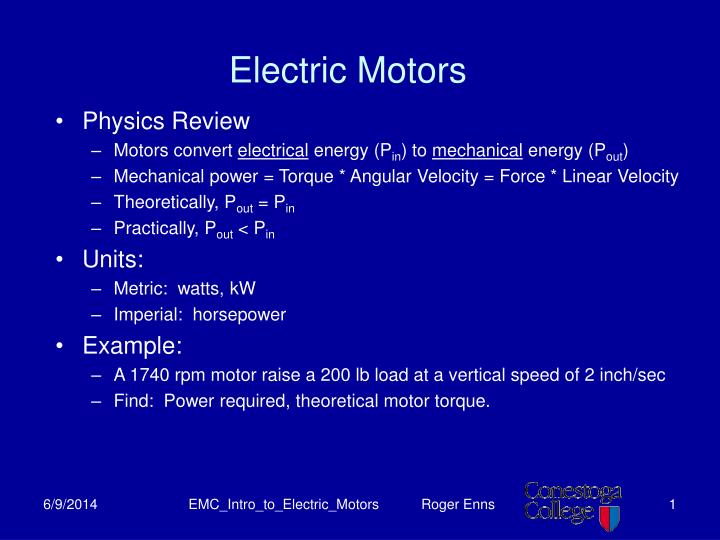 electric motors n.