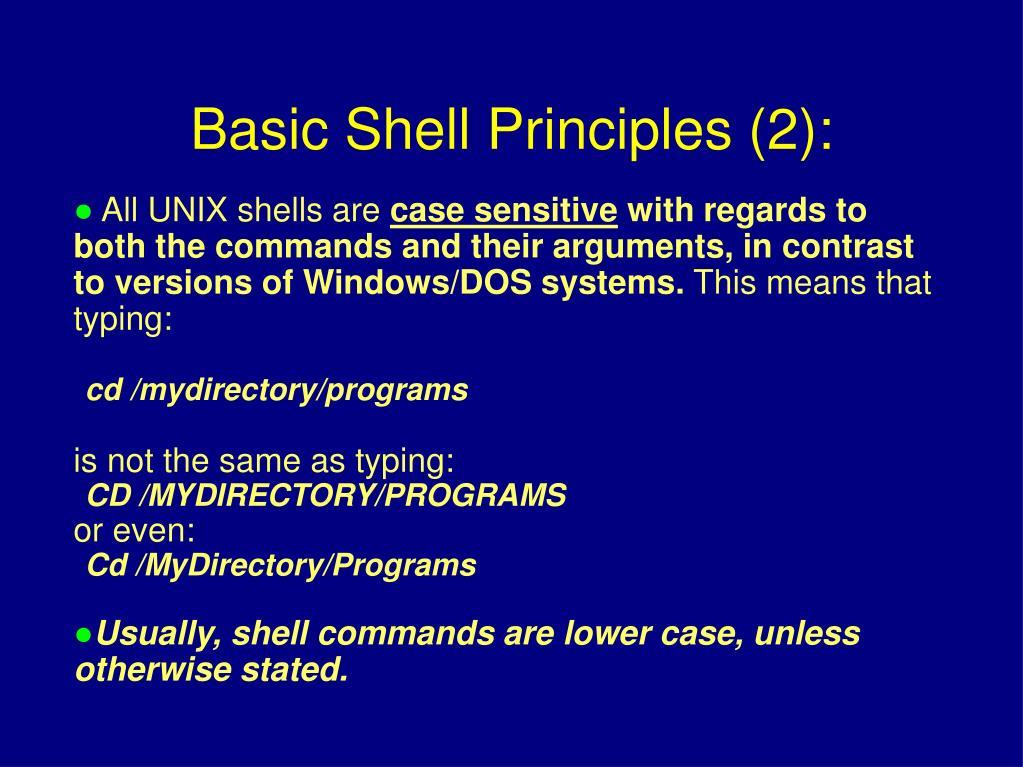 All UNIX shells are