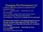 changing file permissions 2