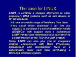 the case for linux