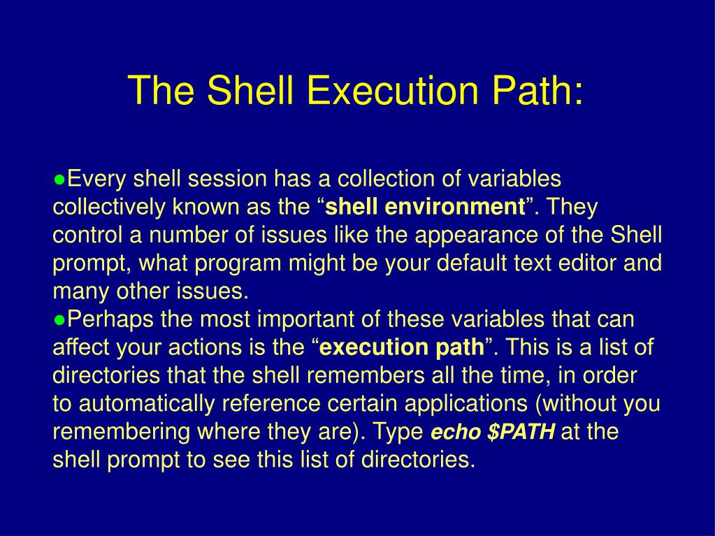 """Every shell session has a collection of variables collectively known as the """""""