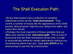 the shell execution path