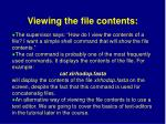 viewing the file contents