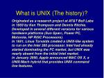 what is unix the history