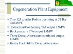 cogeneration plant equipment