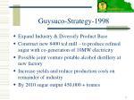 guysuco strategy 1998