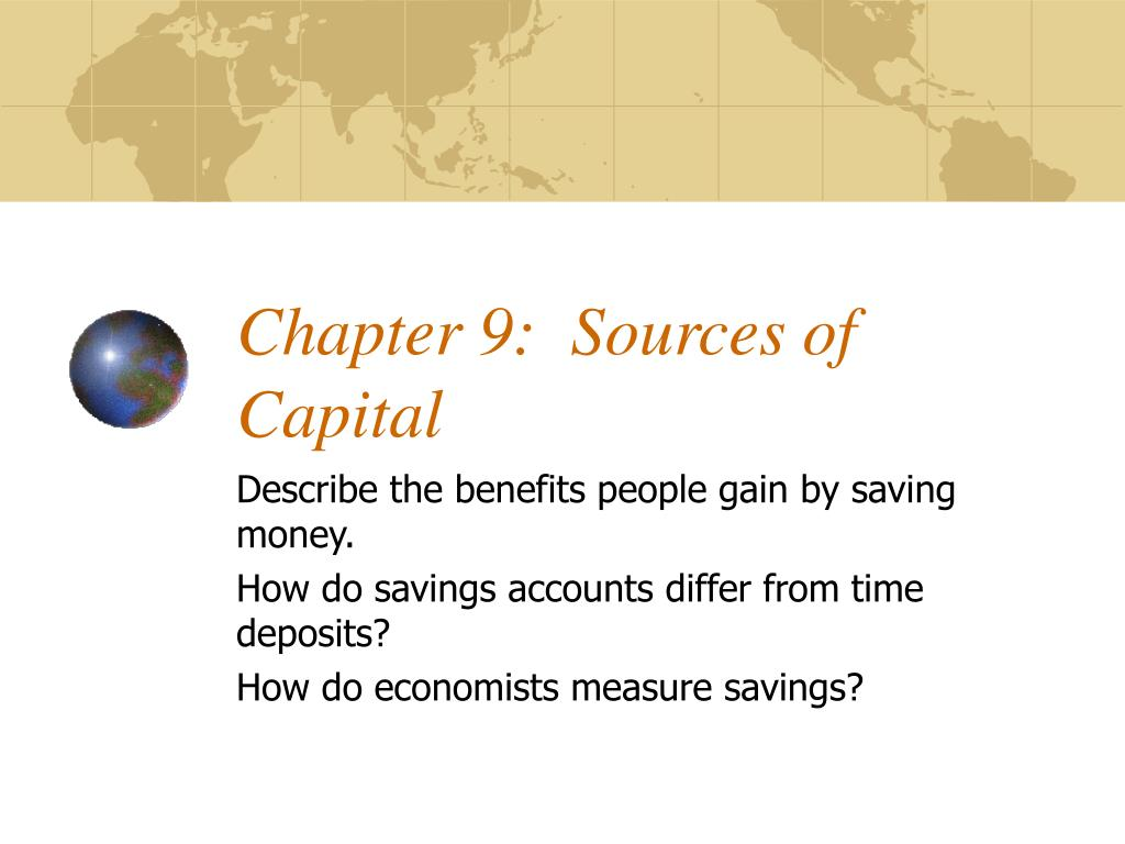 chapter 9 sources of capital l.