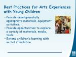 best practices for arts experiences with young children