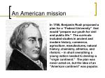 an american mission
