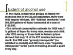 extent of alcohol use