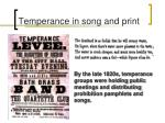 temperance in song and print