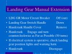 landing gear manual extension66