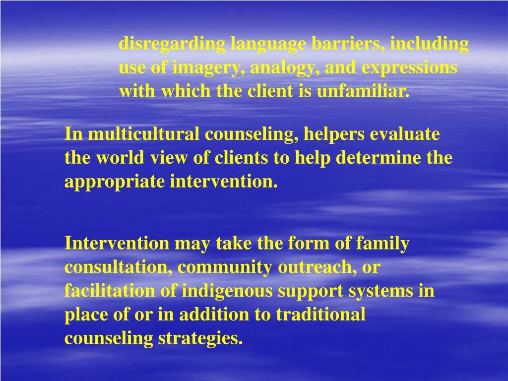 disregarding language barriers, including
