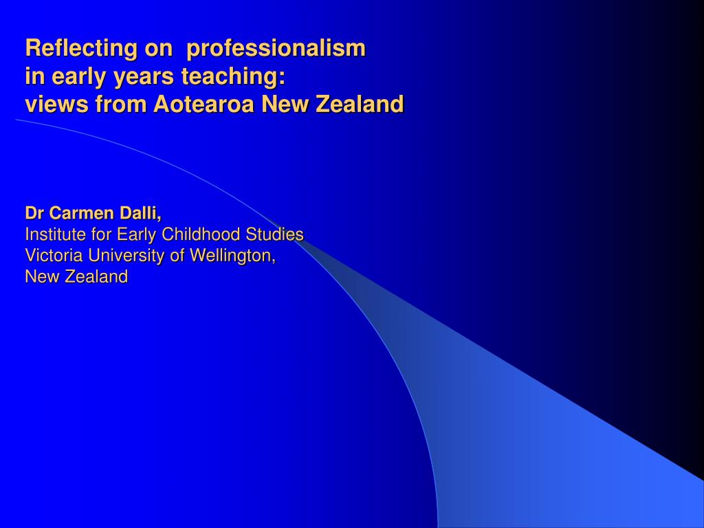 Reflecting on  professionalism