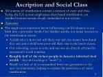 ascription and social class