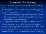extent of u s poverty
