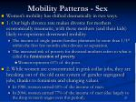 mobility patterns sex