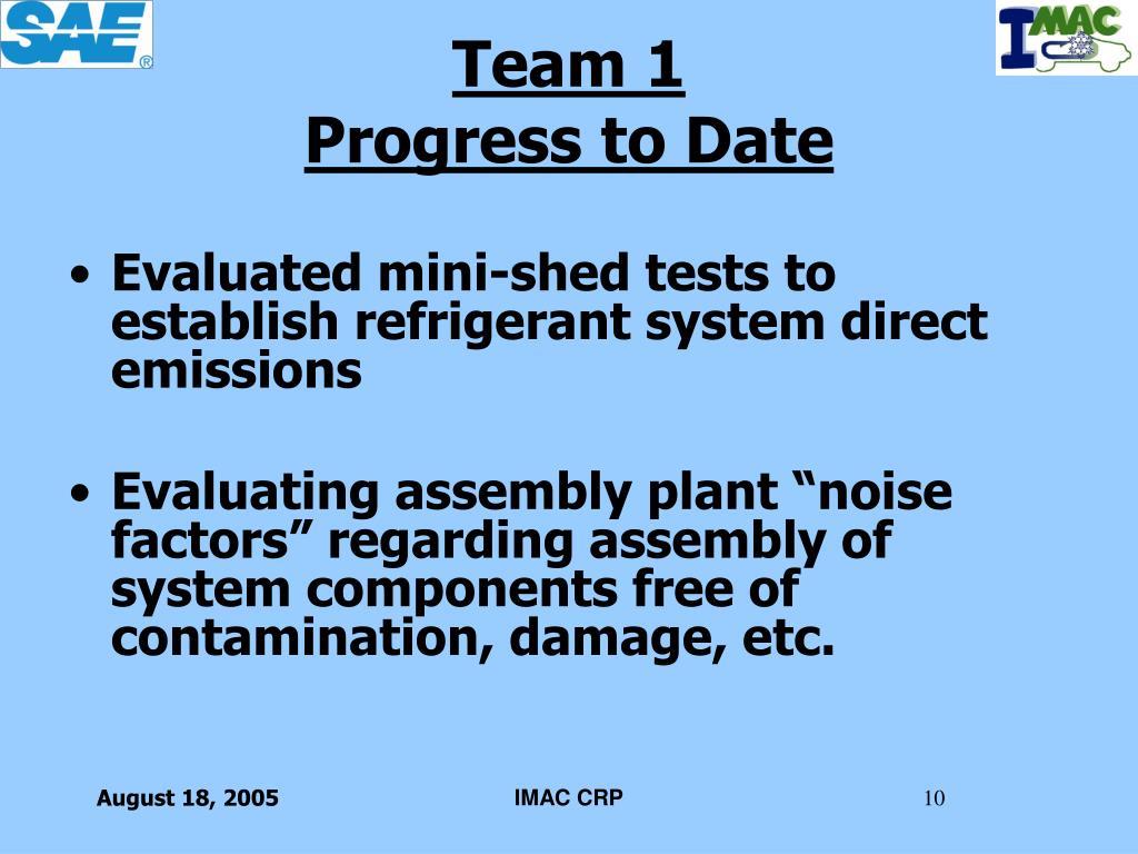 Evaluated mini-shed tests to establish refrigerant system direct emissions
