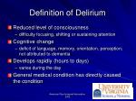 definition of delirium
