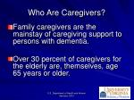 who are caregivers
