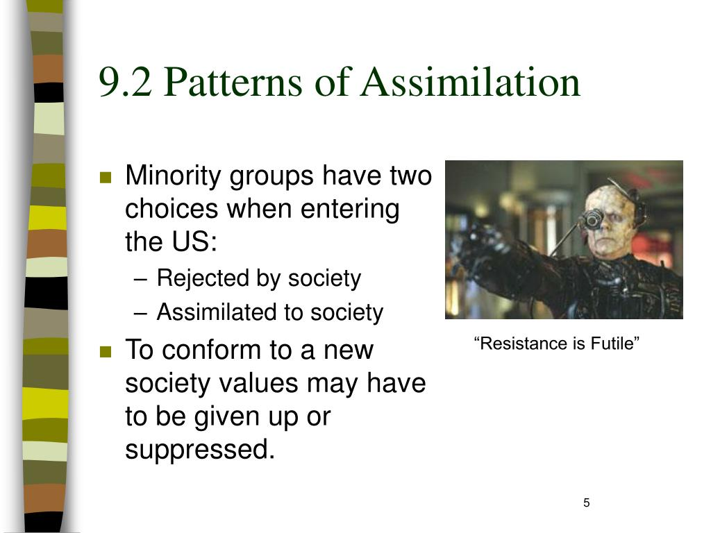 9.2 Patterns of Assimilation