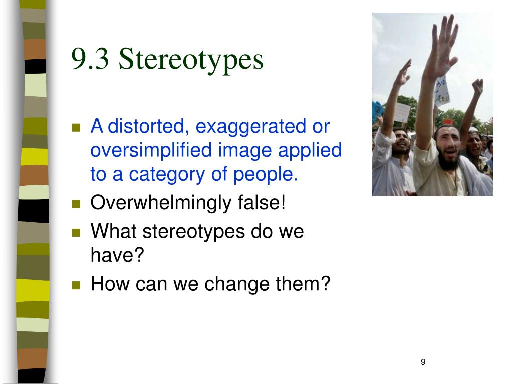 9.3 Stereotypes