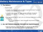 battery maintenance types