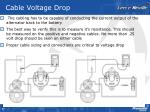 cable voltage drop