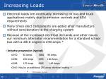 increasing loads