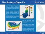 the battery capacity