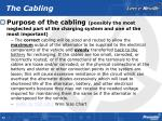 the cabling