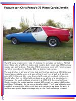 feature car chris penny s 73 pierre cardin javelin