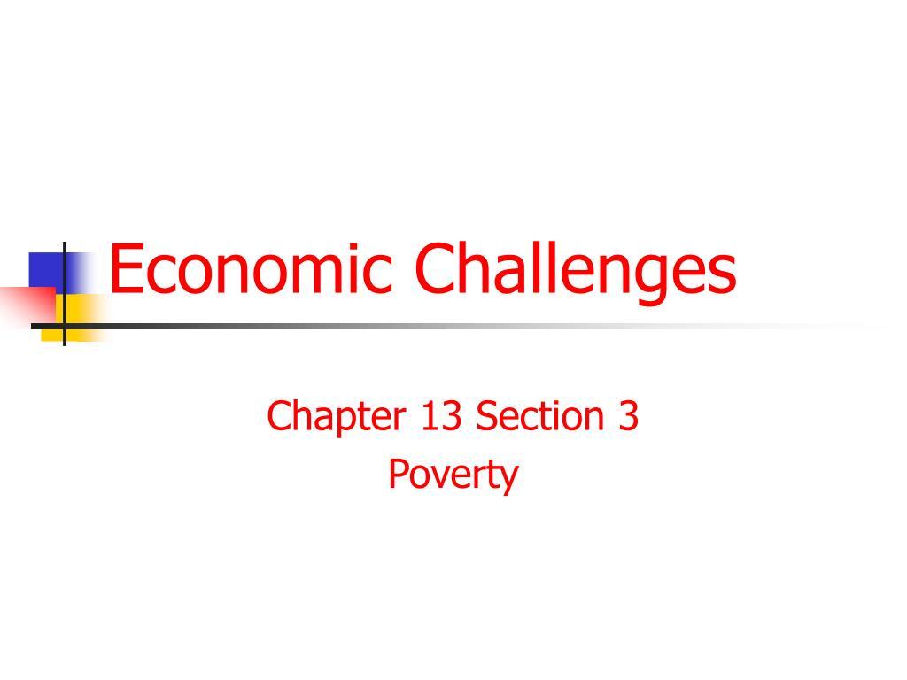economic challenges l.