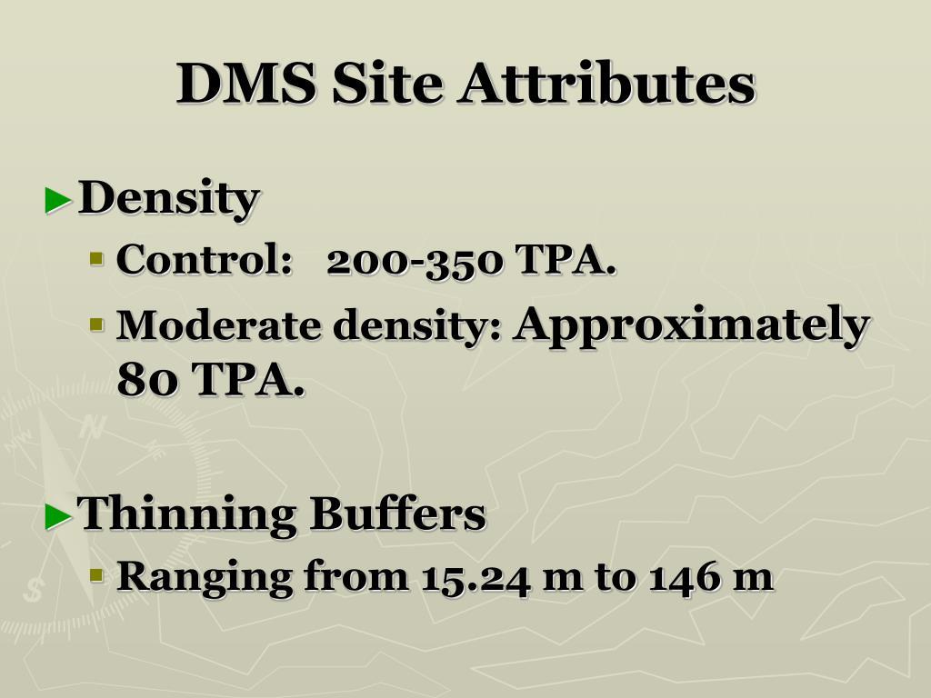 DMS Site Attributes